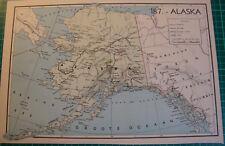 Old map Alaska 1939 kaart landkaart Yukon