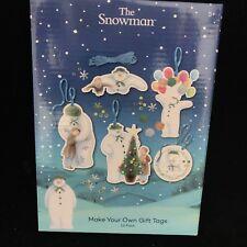 Christmas Gift Tags The Snowman Snowdog Raymond Briggs NEW