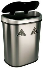 18.5 gal. Motion Sensor Auto Open Recycling Bin Household Trash Large Container