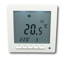 Digital Thermostat für Fussbodenheizung max 16A weiß Wochenprogramm #847
