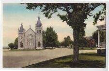 1930 OLD POINT COMFORT VA St. Mary's Catholic Church Hampton Fort Monroe postcrd