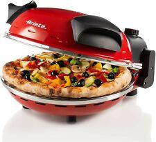 Forno per pizza ARIETE 909 pizza in 4 minuti, 1200 W, Rosso diametro 33 pietra