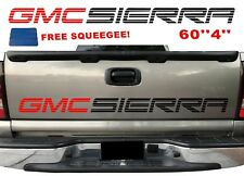 GMC SIERRA Tailgate Vinyl Graphics GMC Bed Decal Sticker Pickup Trucks Letters