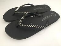 Ladies Shoes Flip Flops Size Uk 7/8 Eu 40/42 Black Brand New With Tags