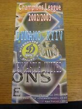 18/09/2002 DINAMO KIEV V Newcastle United Champions League [] (pirata: 6 pagine, L