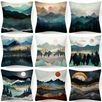 """Cushion Cover Landscape Sea Abstract Decorative 2-Sided Throw PILLOW CASE 18x18"""""""