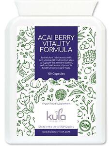 Acai Berry Complex - Antioxidant Rich plus Immune Support - 100 Vegan Capsules