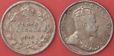 Very Fine 1910 Canada Pointed Leaves Silver 5 Cents