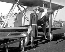 1928 Aviator Pilot AMELIA EARHART Glossy 8x10 Photo Merrill CIT- 9 Plane Poster