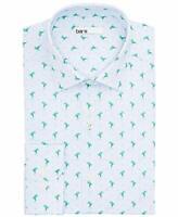 Bar III Men's MAXS Frog Stripe Slim-Fit Printed Dress Shirt (Blue, L 34/35)