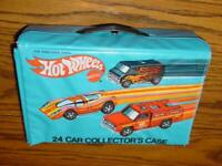 VINTAGE Mattel - HOT WHEELS (24) Car Collector's Case - 1975 - Carrying #8227