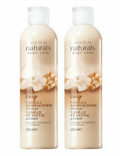 2 X Avon Naturals Body Care Vanilla and Sandalwood Shower Gel, 2 Bottles x 200ml