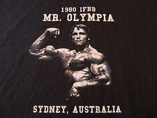 1980 IFBB Mr. Olympia Arnold Schwarzenegger Sydney, Australia T Shirt Size XL