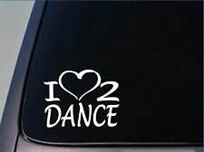 I heart to dance sticker *H188* 8 inch wide vinyl dancing ballet tap decal