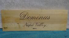 2011 Dominus Napa Valley Wine Panel End