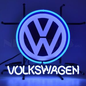 "Volkswagen VW Junior Auto Garage Neon Light Sign 17"" by 16"""