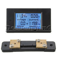 50A LCD Digital Volt Watt Current Power Meter Panel Ammeter Voltmeter +Shunt
