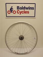 700c REAR Road Bike Wheel - Q/R - WEINMAN Rim SILVER +10 SPEED SHIMANO CASSETTE