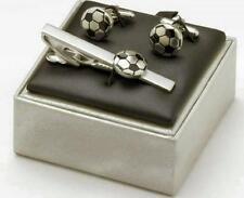 Soccer Cufflinks & Tie Bar set  Football Cuff Links 5247