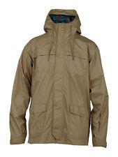 QUIKSILVER Men's ROCKS Snow Shell Jacket KHA Medium NWT Reg $300