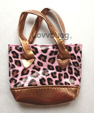 """Pink Leopard Purse for 18"""" American Girl Doll Clothes  Widest Selection! Found!"""