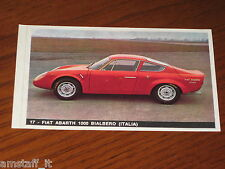 FIAT ABARTH 1000 BIALBERO=FIGURINA=1965/66=ALBUM FIGURINE AUTOMOBILI D'OGGI