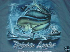 DOLPHIN ANGLER Dominate of Deep Sea Salt Water FISHING T-Shirt   NEW   ... LARGE