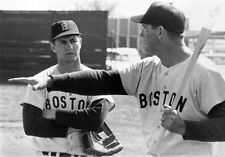 CARL YASTRZEMSKI TED WILLIAMS  8x10 RED SOX