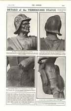 1919 Details Verrochio Statue Helmet Saddle George Meredith House Aldeburgh