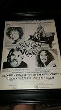 Solid Gold Radio Show Rare Original Promo Poster Ad Framed!