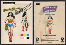 SIGNED Jose Luis Garcia Lopez JLA Model Sheet Insert Chase Art Card Wonder Woman