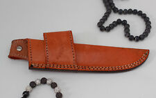 100% Geniune Brown Handmade double loop Real leather Knife sheath cover pouch
