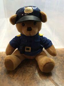 Vtg. Applause LLC American Hero Police Man Collectible Teddy Bear