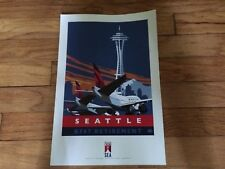 DELTA 747 RETIREMENT - SEATTLE - POSTER - 18 x 12 - NEW