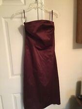 Issac Mizrahi Burgundy/Wine Strapless Dress Prom Formal Cocktail Size 2 Target