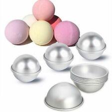 6pcs 3 Set Aluminum Bath Bomb Molds DIY Bath Fizzy Sphere Round Ball Molds