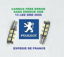 AMPOULES LED W5W T10 13 LED PEUGEOT 307 NEUF CANBUS