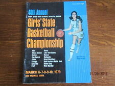 1973 Iowa High School Girls State Basketball Championship Official Program