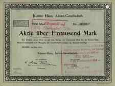 Kontor Haus Berlin Immobilien Lederwerke Nord 1921 DEKO Historische Wertpapiere