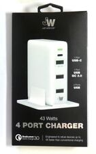 Just Wireless USB-C Quick Charge 3.0 4-Port USB Charging Hub - White