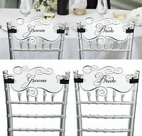 Wedding Chair Signs Decorations For the Bride and Groom