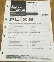 PIONEER PL-X9 HE HB S KU STEREO TURNTABLE ORIGINAL SERVICE REPAIR MANUAL