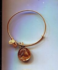 coin charm bracelet Rare Alex & Ani gold byzantine