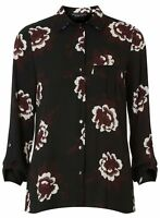 NEW Dorothy Perkins Floral Print Blouse 6-20- Black Work Office Evening RRP £28