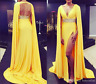 2019 Sexy Formal Dress Cape Cloak Long Chiffon Prom Evening Cocktail Party Gowns