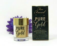 Too Faced Pure Gold Ultra Fine Face & Body Glitter Infused w Real Gold 0.07 oz