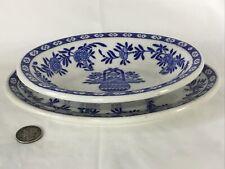 Vintage Cooks Hotel & Restaurant Supply Blue & White Bowl Underplate