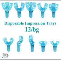 Impression Trays Dental Perforated Plastic Disposable, CHOOSE SIZE, FDA, 12Bag