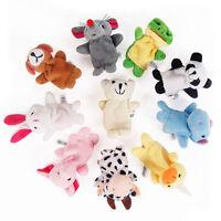 2/10Pcs Finger Puppets Cloth Plush Doll Baby Educational Hand Cartoon Animal Toy