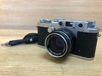*Exc+5** Tokyo Kogaku Topcor S 5cm 50mm F/2 Leica L39 LTM Lens & Leotax ELITE
